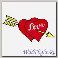 Наклейка (7х15) Love