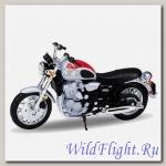 Модель мотоцикла Triumph Thunderbird `02 Silver/Red 1:18