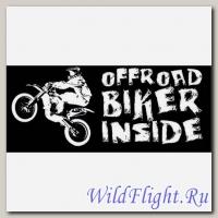 Наклейка Crazy Iron BIKER INSIDE Offroad Black