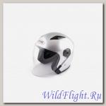 Шлем (открытый со стеклом) Ataki OF512 Solid серебристый глянцевый