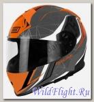 Шлем (интеграл) Origine GT Raider серый/черный/оранжевый