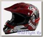 Шлем кроссовый Avantis Graffiti RED