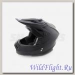 Шлем (кроссовый) Ataki MX801 Solid чёрный матовый