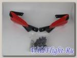 Защита рук CTG-9 пластик, крепеж универсальный, типа КТМ (красный/черный)
