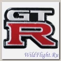 Наклейка (5х7) GTR верт. (метал)