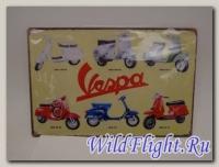 Знак винтажный VESPA тип 16