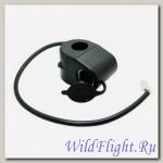Прикуриватель мото (гнездо, как в авто) - блок на руль, 12В, 10А, предохр-ль, шнур с коннектором