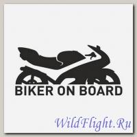 Наклейка Crazy Iron на авто BIKER ON BOARD SPORT