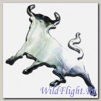 Наклейка (10х10) Bull (пластик, скотч)