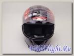 Шлем (интеграл) Ataki FF311 Skull черный/красный/белый глянцевый