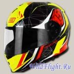 Шлем (интеграл) Origine GT Raider черный/желтый глянцевый