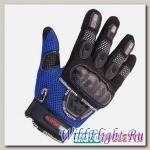 Перчатки MOTOCYCLETTO NETTO синий, текстиль Iphone touch