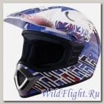 Шлем LS2 MX426 JUNIOR SILICON Gloss Blue