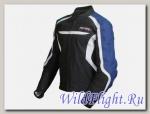 Куртка мотоциклетная (кожа) Street Fighter черно-синий MICHIRU