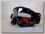 Очки для мотокросса FLY RACING ZONE (2016) чёрные/оранжевые,зеркальные