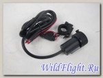 USB адаптер для мотоцикла (2 порта, водонепроницаемый)