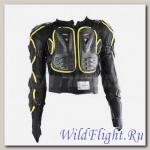 Черепаха защитная Pro-Biker Riding Tribe HX-P14 чёрная/ Hi-Viz жёлтая