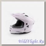 Шлем (мотард) Ataki FF802 Solid белый глянцевый