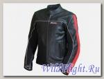 Куртка мотоциклетная (кожа) Action черно-красное MICHIRU