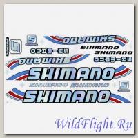 Наклейки набор (19х36) Shimano3