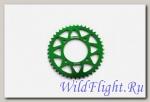 Звезда ведомая аллюминиевая питбайк 428-43T зеленая SM-PARTS