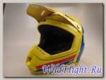 Шлем (кроссовый) EVS T5 RALLY желтый/синий/красный глянцевый