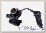 Розетка-прикуриватель с кабелем 1,5 м на трубчатый руль Interphone (Cellularline)