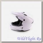 Шлем (кроссовый) Ataki MX801 Solid белый глянцевый