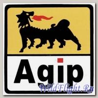 Наклейка эмблема Agip (12х12)