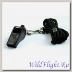 Свисток пластмассовый Mikasa WH-2BK с шариком, черный
