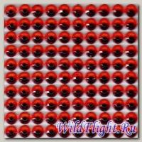 Наклейки набор (10х40) Стразы 4мм red