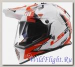 Шлем LS2 MX436 PIONEER TRIGGER White Black Red
