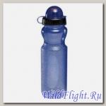 Фляга 0.7 голуб прозрачная с защитой от попадания пыли