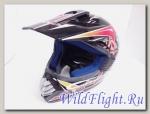 Шлем Vcan 350 кросс black / aoe-r