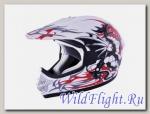 Шлем (кросс) MC 130 Dragon White MICHIRU