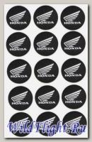 Наклейки набор (10х17) эмблемы Honda