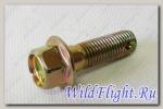Болт с отверстием для шплинта M10х1.25х30мм, сталь LU079519
