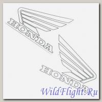 Наклейки (пара) (10х11) эмблемы Honda white