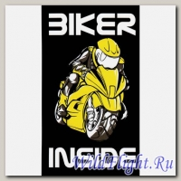 Наклейка Crazy Iron BIKER INSIDE Yellow