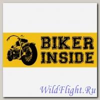Наклейка Crazy Iron BIKER INSIDE Чоппер