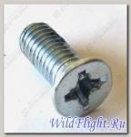 Винт с крестообразным шлицем M6х1.0х15мм, сталь LU014742