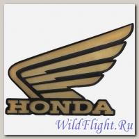 Наклейки (пара) (10х11) эмблемы Honda gold (метал)