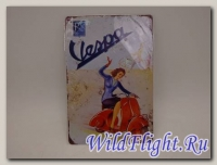 Знак винтажный VESPA тип 21