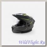 Шлем (кроссовый) Ataki MX801 Strike Hi-Vis жёлтый/чёрный матовый