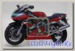 Часы в форме мотоцикла DELTABOX (красный)