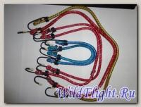 Резинка (ПАУК) для крепеления багажа (в комплекте 4шт разноцвет ТОНКИЕ) 82300 с мет. крючками