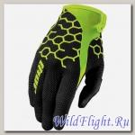 Перчатки THOR DRAFT COMB BLACK/ FLO GREEN