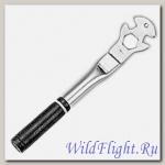 Инструмент. Ключ для педалей 14х9/16 шлицевой + 24мм накидной с толстой рукояткой