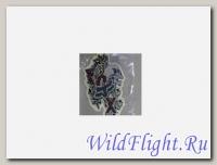 Наклейка Надпись FOX,череп и черные розы (стиль тату) (GPA 5638) средняя