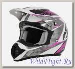 Шлем AFX FX-17 Factor PEARL WHITE/FUCHSIA
